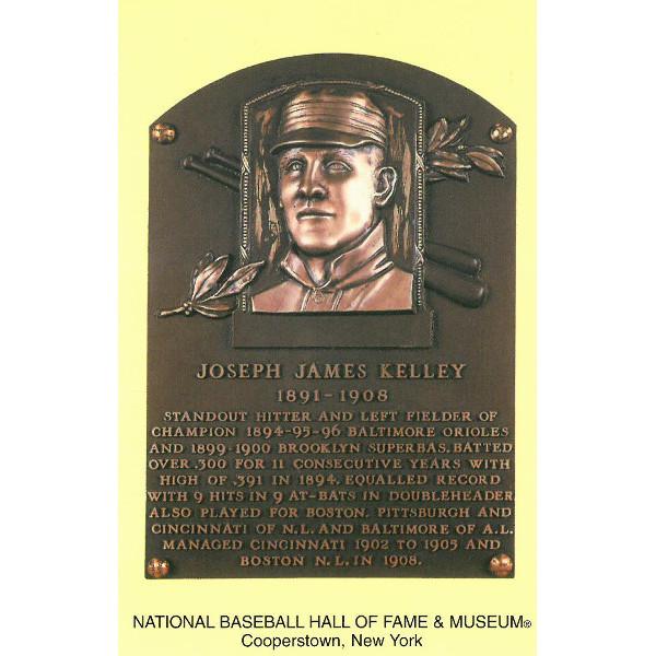 Joe Kelley Baseball Hall of Fame Plaque Postcard