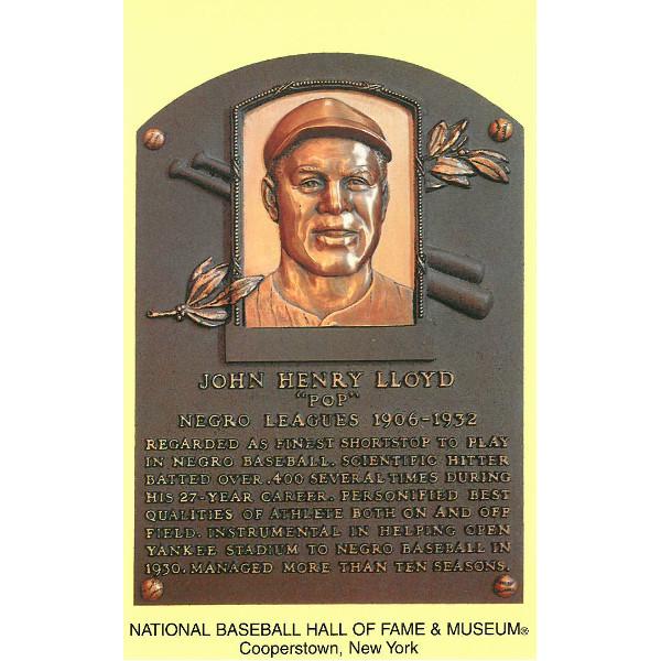 Pop Lloyd Baseball Hall of Fame Plaque Postcard