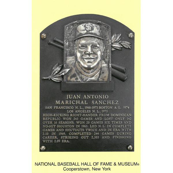 Juan Marichal Baseball Hall of Fame Plaque Postcard