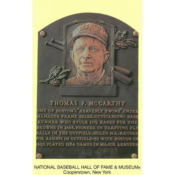 Tom McCarthy Baseball Hall of Fame Plaque Postcard