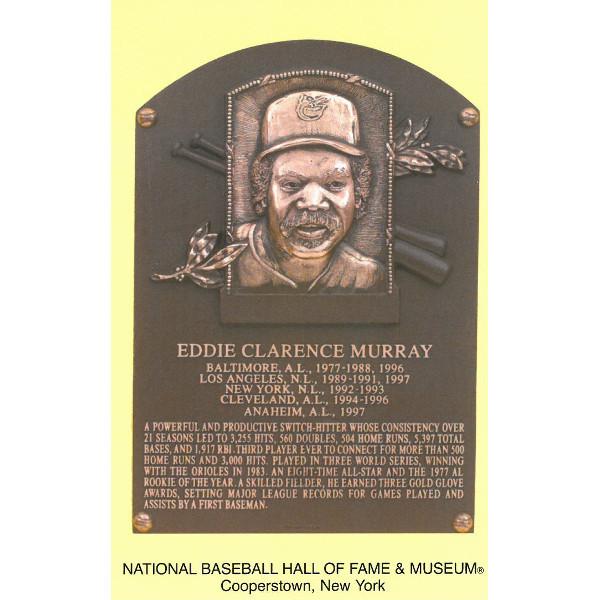 Eddie Murray Baseball Hall of Fame Plaque Postcard