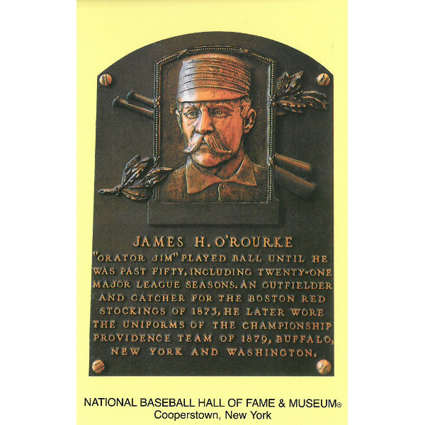 James O'Rourke Baseball Hall of Fame Plaque Postcard