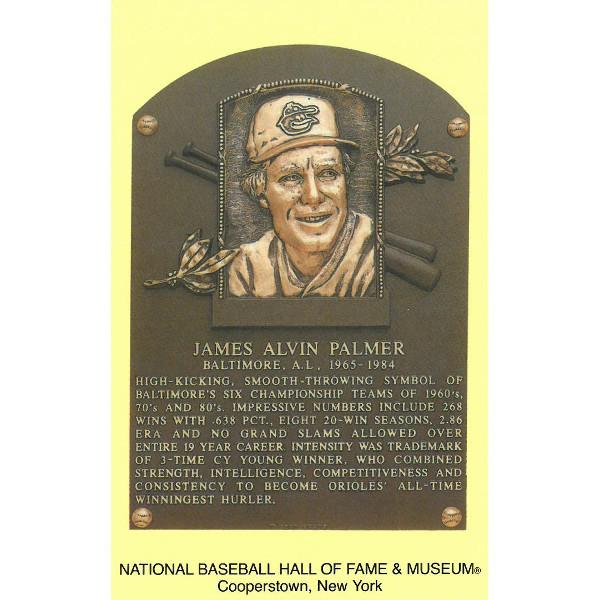 Jim Palmer Baseball Hall of Fame Plaque Postcard
