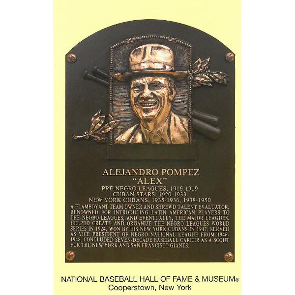 Alex Pompez Baseball Hall of Fame Plaque Postcard
