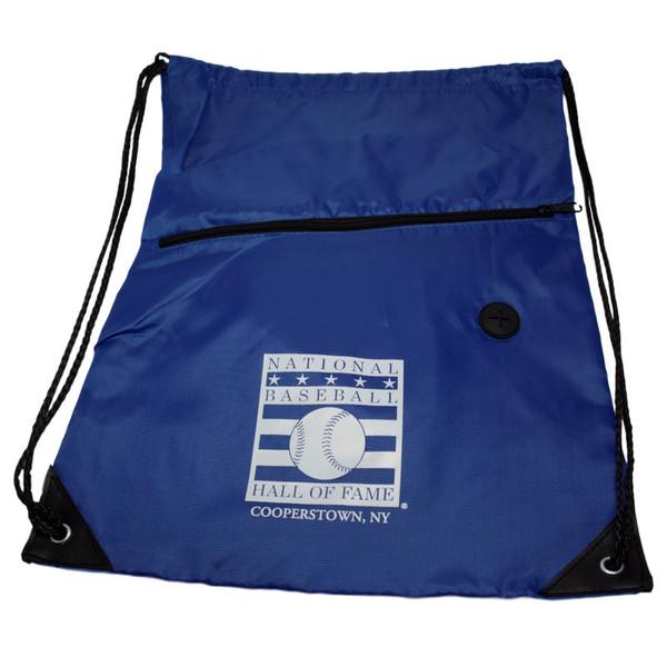 Baseball Hall of Fame Logo Royal Back Sack Drawstring Bag