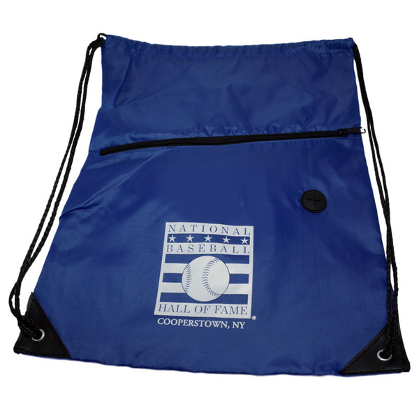 Baseball Hall of Fame Logo Royal Back Sack Drawstring Bag