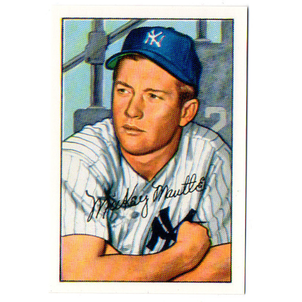 1952 Bowman Mickey Mantle Reprint Rookie Card