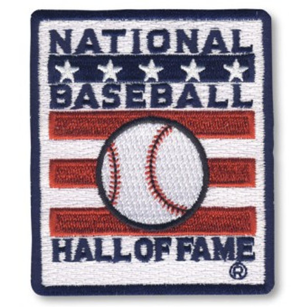 Baseball Hall of Fame Square Logo Patch