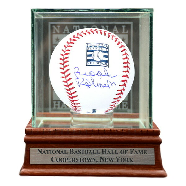Brooks Robinson Autographed Hall of Fame Logo Baseball with Case (MAB)