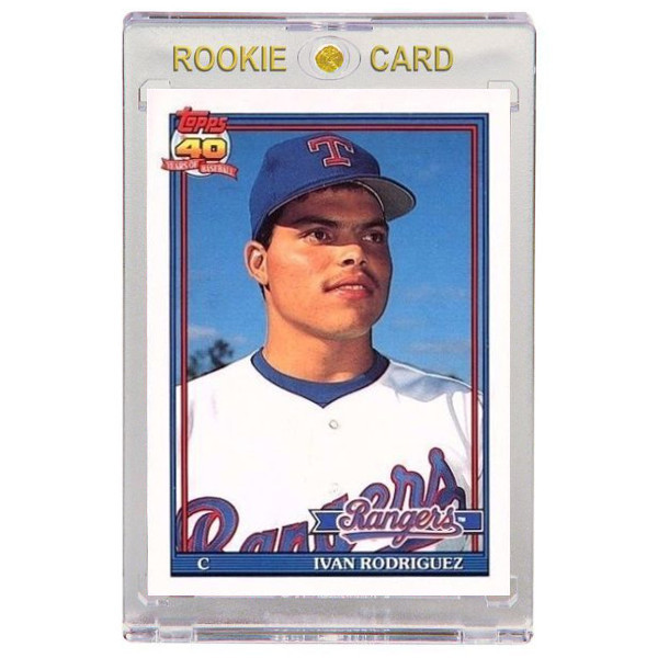 Ivan Rodriguez Texas Rangers 1991 Topps Traded # T101 Rookie Card