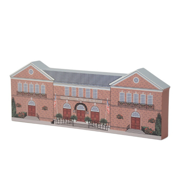 Baseball Hall of Fame Building Cat's Meow Wooden Replica