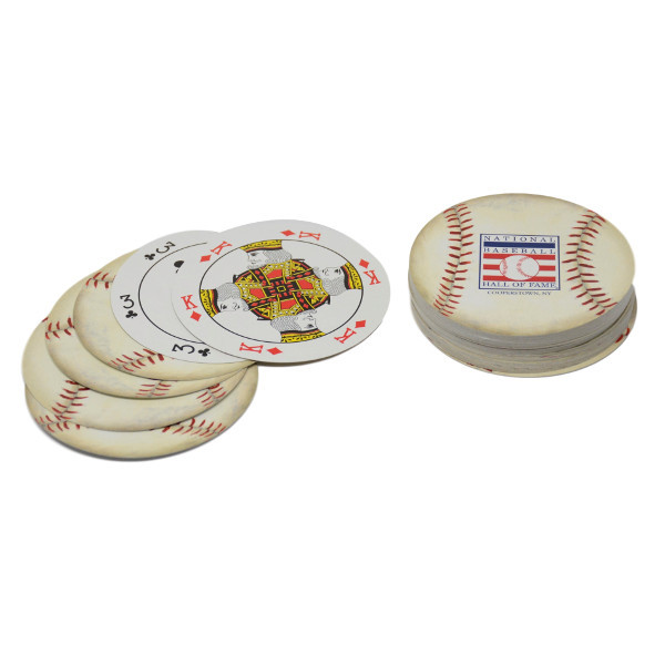 Baseball Hall of Fame Round Playing Cards Deck
