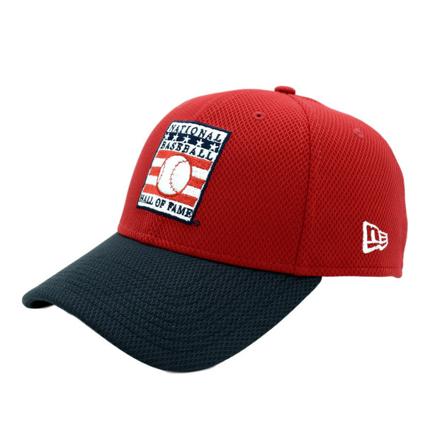 Men's New Era Baseball Hall of Fame Red/Navy Batting Practice 39THIRTY Flex Fit Cap