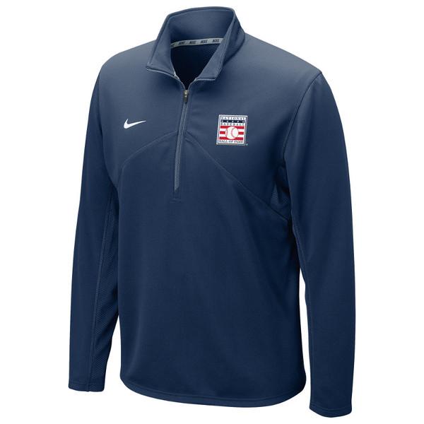 Men's Nike Baseball Hall of Fame Navy Dri-Fit Quarter Zip