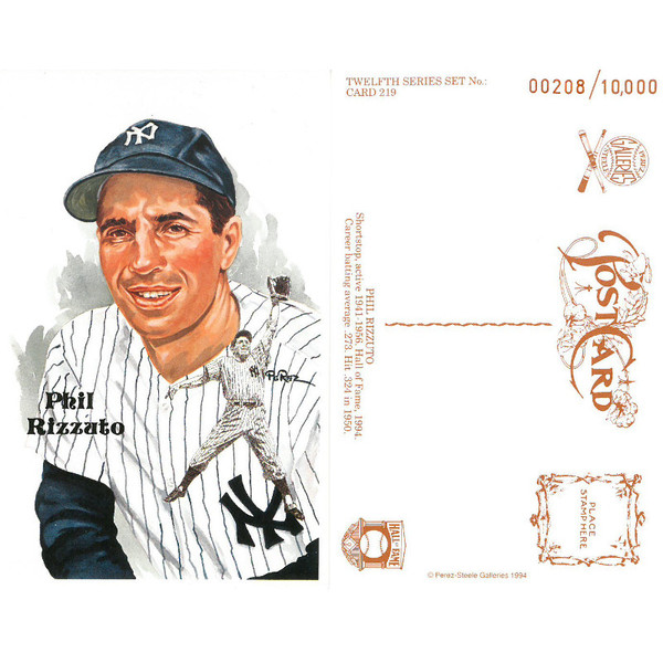 Perez-Steele Phil Rizzuto Limited Edition Postcard