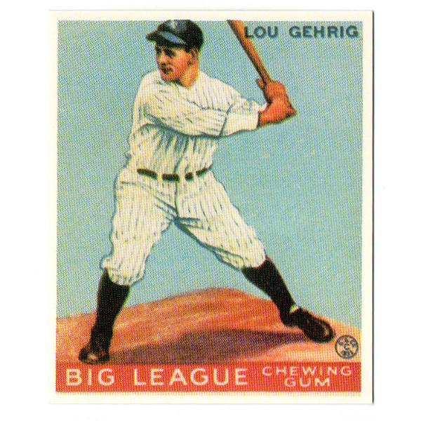 1933 Goudey Lou Gehrig Reprint Rookie Card