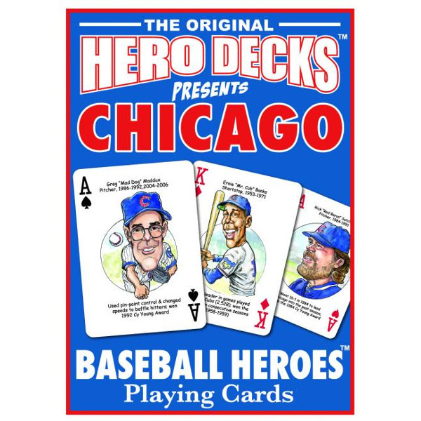 Hero Decks Caricature Playing Cards For Chicago Cubs Fans