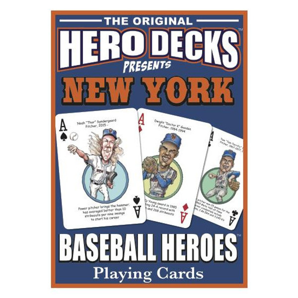 Hero Decks Caricature Playing Cards For New York Mets Fans