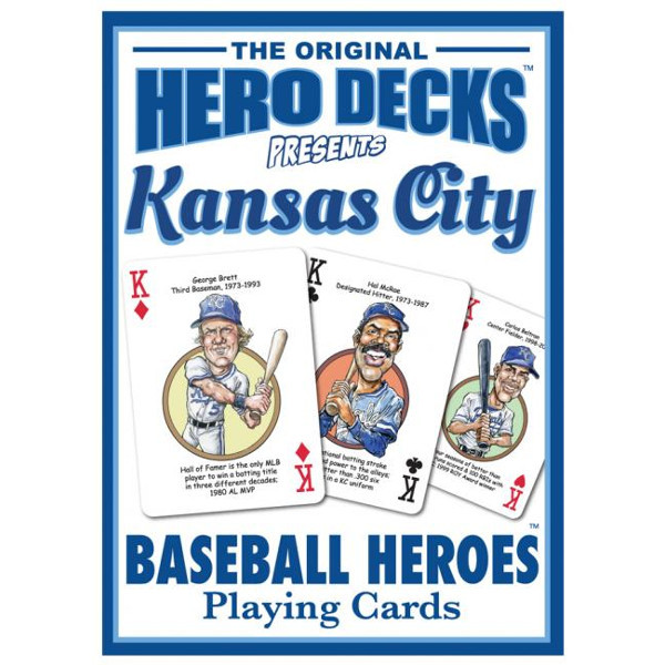 Hero Decks Caricature Playing Cards For Kansas City Royals Fans