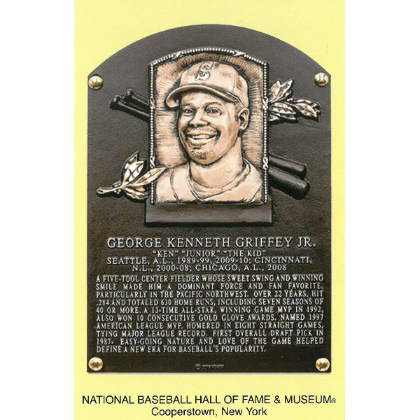 Ken Griffey Jr. Baseball Hall of Fame Plaque Postcard