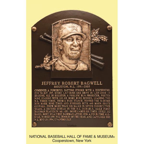 Jeff Bagwell Baseball Hall of Fame Plaque Postcard