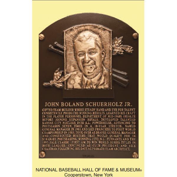 John Schuerholz Baseball Hall of Fame Plaque Postcard