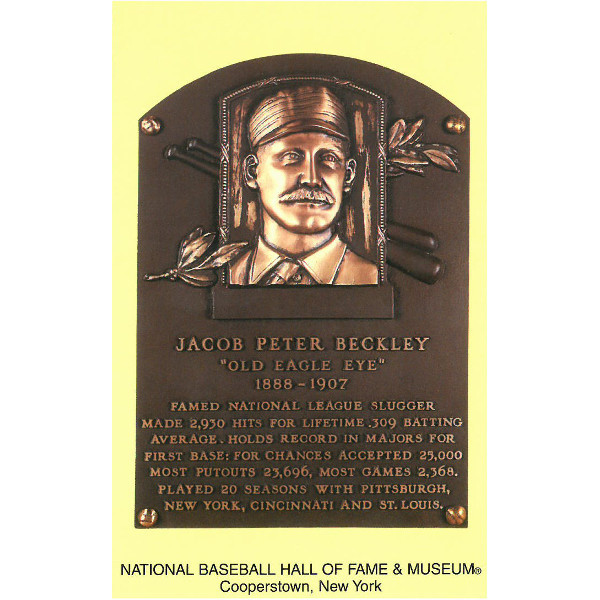 Jake Beckley Baseball Hall of Fame Plaque Postcard