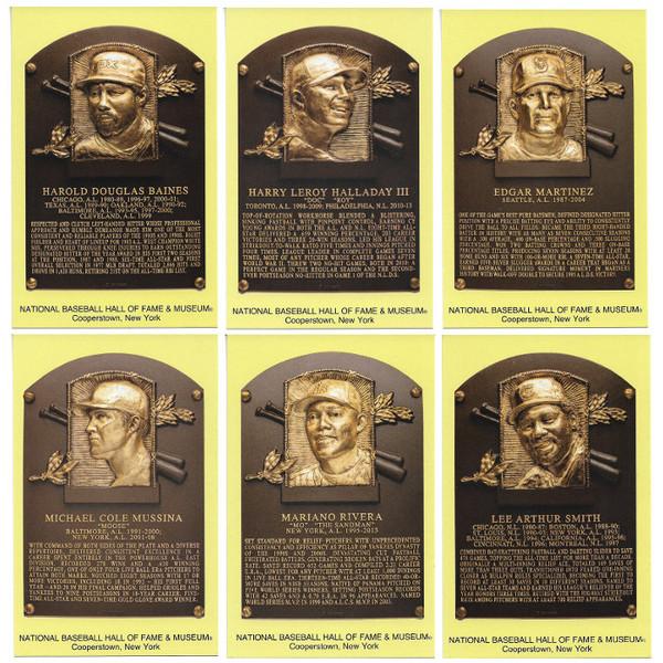 Class of 2019 Baseball Hall of Fame Plaque Postcard Set of 6 (Baines, Halladay, Martinez, Mussina, Rivera, Smith)