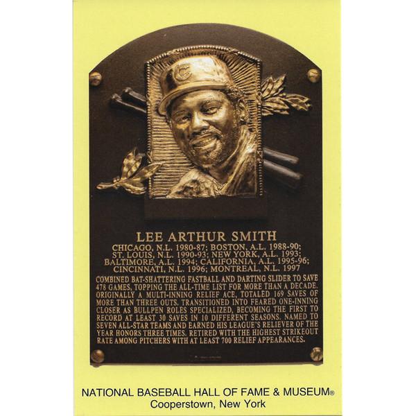 Lee Smith Baseball Hall of Fame Plaque Postcard