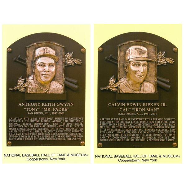 Class of 2007 Baseball Hall of Fame Plaque Postcard Set of 2 (Gwynn, Ripken)