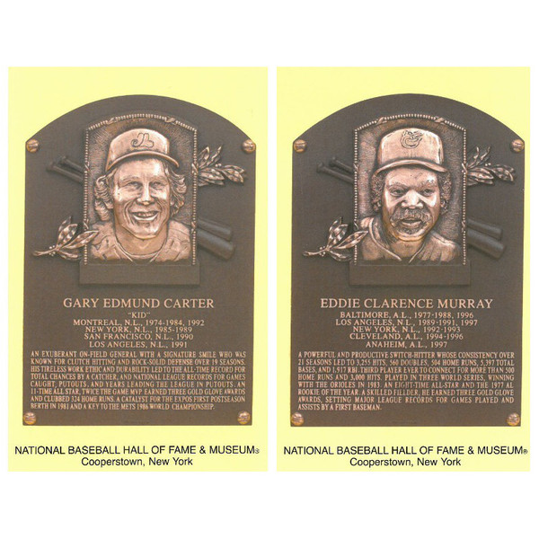 Class of 2003 Baseball Hall of Fame Plaque Postcard Set of 2 (Carter, Murray)
