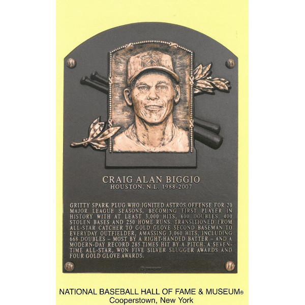 Craig Biggio Baseball Hall of Fame Plaque Postcard