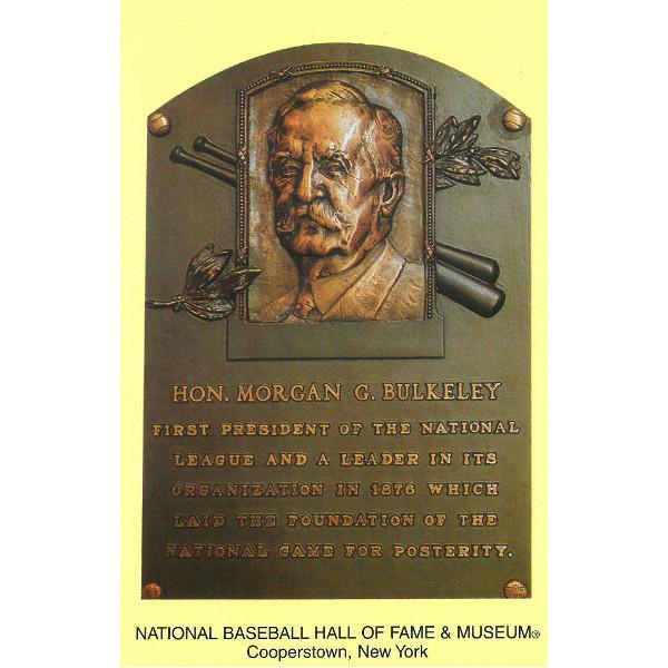 Morgan Bulkeley Baseball Hall of Fame Plaque Postcard