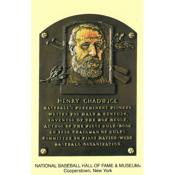 Henry Chadwick Baseball Hall of Fame Plaque Postcard
