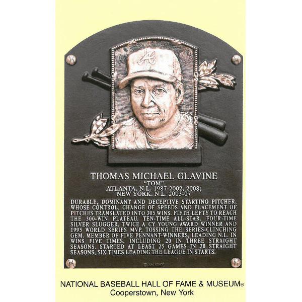 Tom Glavine Baseball Hall of Fame Plaque Postcard