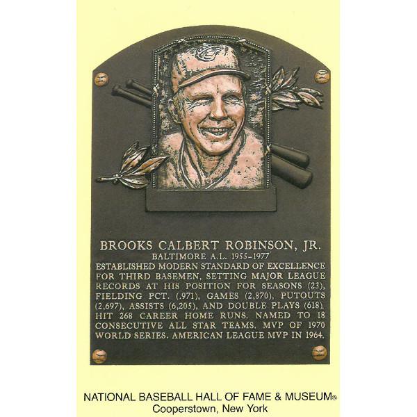 Brooks Robinson Baseball Hall of Fame Plaque Postcard