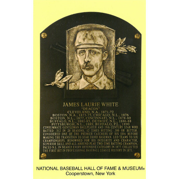 Deacon White Baseball Hall of Fame Plaque Postcard