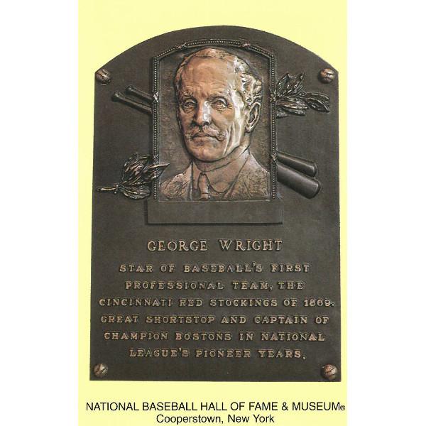 George Wright Baseball Hall of Fame Plaque Postcard