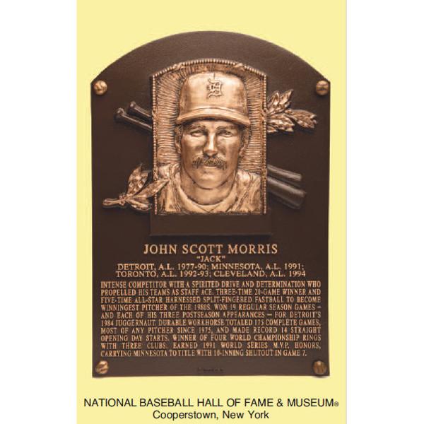 Jack Morris Baseball Hall of Fame Plaque Postcard