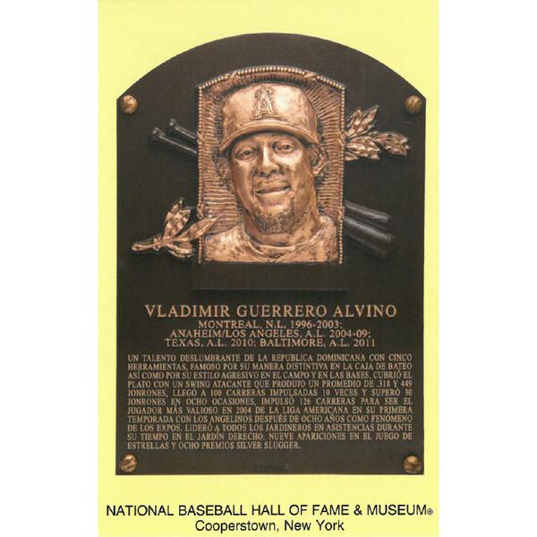 Vladimir Guerrero Baseball Hall of Fame Plaque Postcard (Spanish)