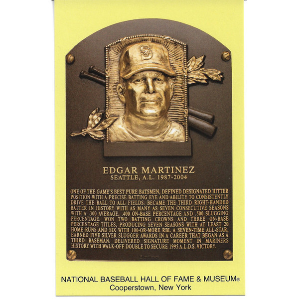 Edgar Martinez Baseball Hall of Fame Plaque Postcard