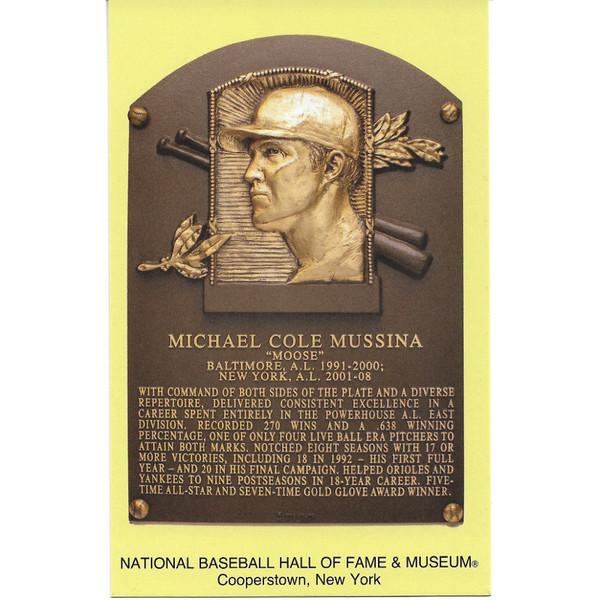 Mike Mussina Baseball Hall of Fame Plaque Postcard