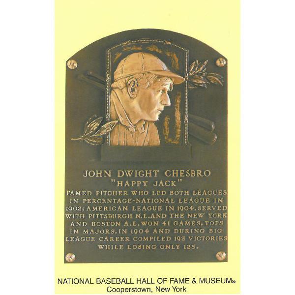 Jack Chesbro Baseball Hall of Fame Plaque Postcard
