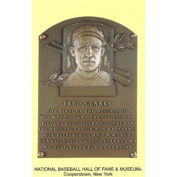 Fred Clarke Baseball Hall of Fame Plaque Postcard