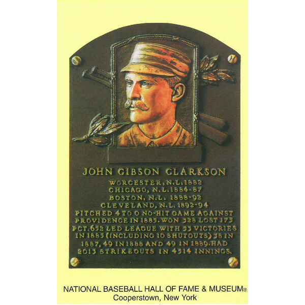 John Clarkson Baseball Hall of Fame Plaque Postcard