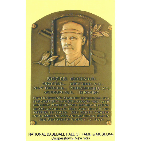Roger Connor Baseball Hall of Fame Plaque Postcard