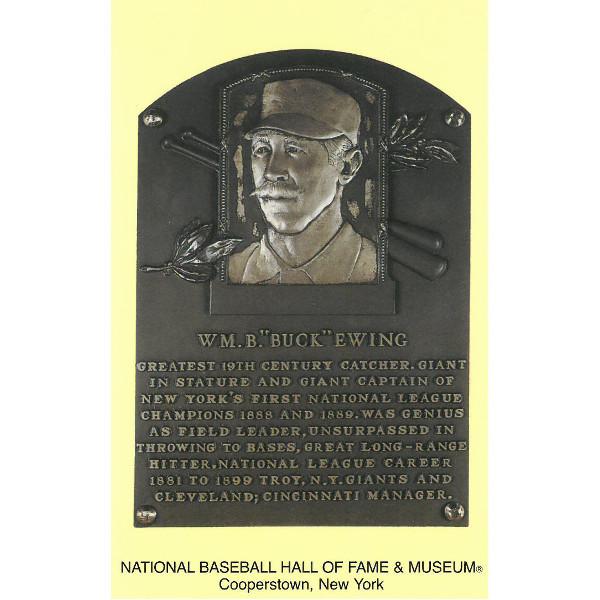 Buck Ewing Baseball Hall of Fame Plaque Postcard
