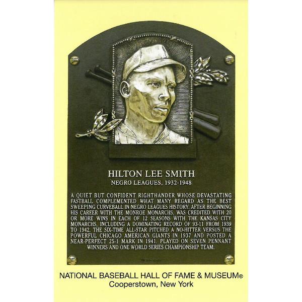 Hilton Smith Baseball Hall of Fame Plaque Postcard
