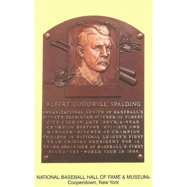 Albert Spalding Baseball Hall of Fame Plaque Postcard