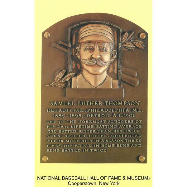 Sam Thompson Baseball Hall of Fame Plaque Postcard
